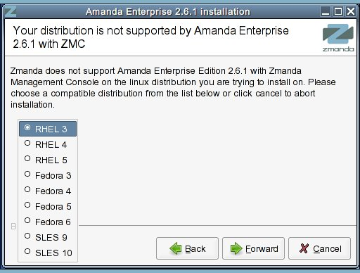 Installer 2 Non-Supported Distribution