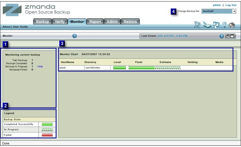 Fig 1. Monitor Page