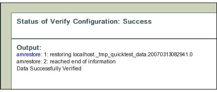 Fig.3 Success Verifying Configuration